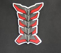 Free Shipping 2pcs Motorcycle Carbon Fiber Resin Tank Pad Protector Red Gray