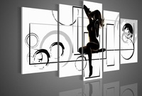 Naked Sexy Dancer Girl - 5 panel abstract oil painting Landscape oil painting  on canvas no framed wall art decorative pitures