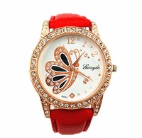 Discounting! full crystal Women Wholesale fashion Rose gold leather strap Watch, wirst watches Ladies diamod fashion watches
