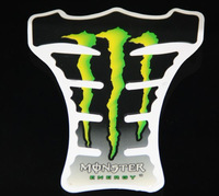 Free Shipping 2pcs Green Flames Monster Car Motorcycle Bike Gas Tank Protector Pad