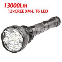 TrustFire 13000Lm 12x CREE XM-L T6 LED Flashlight Torch 26650/18650 70W 12T6