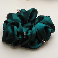 Silky silks and satins crystal diamond hair rope horseshoers headband hair accessory hair accessory hair accessory q10