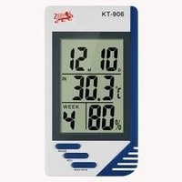 Wholesale Free Shipping LCD Digital Thermometer Hygrometer Thermo-Humidity Meter Alarm Clock