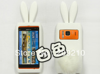 Wholesale For Nokia N8 N8-00 case Rabbit soft silicone Case cartoon case  with high quality 10pcs/lot