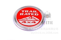 TRAIL RATED 4x4 the best  zinc alloy  3d car self-adhesive black emblem sticker  logo badge   high quality