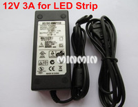 10pcs/lot AC 100-240V To DC 12V 3A(36W) Power Supply Adapter For LED Strip Light 12V 3528 light strip with US/UK/AU/EU plug