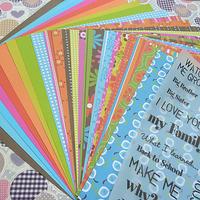 "Scrapbooking Embellishment craft scrapbooking paper set 12x12"" 24 sheet free shipping"