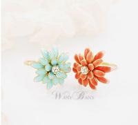 J 4 Sweet elegant daisy chrysanthemum ring finger ring female  free shipping (Min order $10 mixed order)