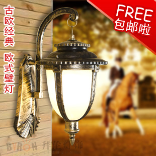 T lawn lamp garden lights Large classic fashion lighting outdoor bronze color waterproof wall lamp(China (Mainland))