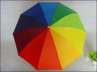 Top Quality rainbow umbrella for sunny and rainy day