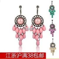 Bohemia fashion multicolor drop tassel earrings no pierced earrings y0047