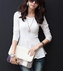 Plus size clothing spring 2013 mm summer elegant lace gentlewomen top shirt basic