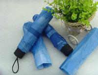 Umbrella Blue Sky 3 Folding Rain Umbrellas For Women Men Free Shipping