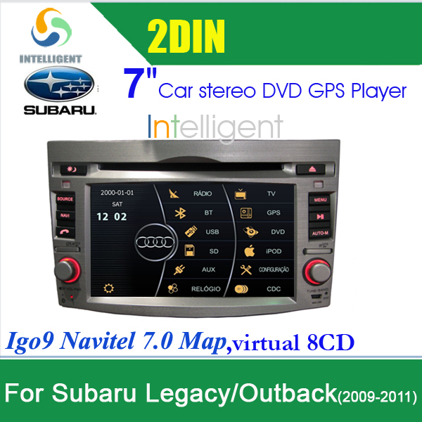 2 DIN Car DVD 3G Car radio tape recorder For Subaru Legacy Outback Car GPS 7 inch in dash touch screen with GPS Bluetooth Iphone(China (Mainland))