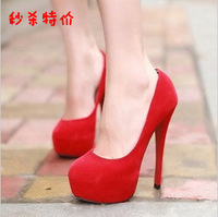 Thin heels high-heeled shoes 2013 red wedding shoes princess super high fashion platform shoes