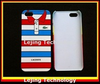 Free shipping 10pcs/lot IMD T shirt Polo shirt hard case for iphone 5