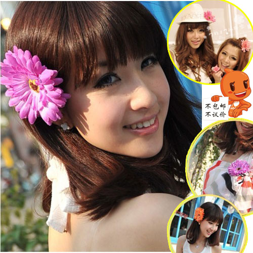Gerbera hairpin big flower sweet chrysanthemum hair accessory headband hair rope(China (Mainland))