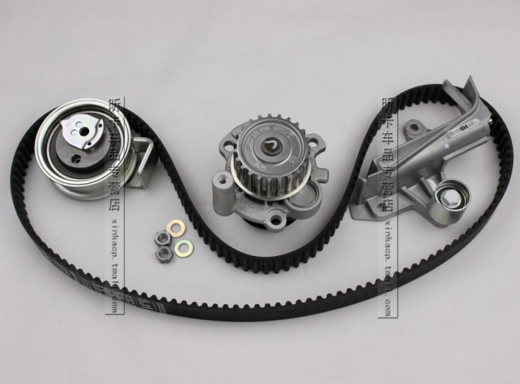 Volkswagen water pump 1.8t top a suitcase Settings strap tensioner pulley set kit repair package(China (Mainland))