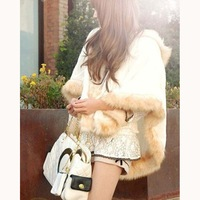 Solid Flocking Fashion Cloak Women Ponchos 2013 Free shipping X00010CLLH