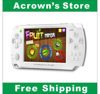 2013Newest PSV JXD S602b 4.3Inch  Smart game console Joystick  Android 4.1 game console Free shipping(White)