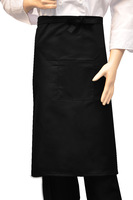 Black big w101 aprons work wear apron chef apron long design apron