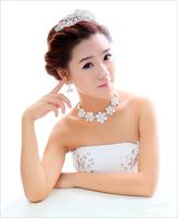 Fashion wedding items hair Headband Korean plum headdress flower+necklace+Earring Wedding Accessories free shipping 3pcs/lot