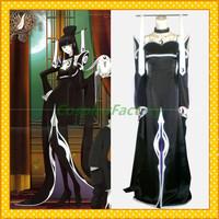 Free Shipping Custom Made XXXHolic Cosplay Yuko Satin Gothic Dress Costume,1.5kg/pc