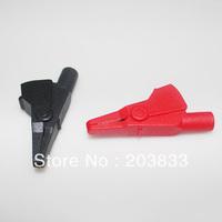 4Pcs Small-size Red&Black Alligator Clip Crocodile Connector Clamp Testing Probe