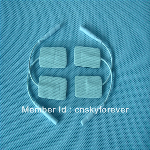 Freeshipping masucle stimulator reusable electrode pad for body massager/health care tens pad(China (Mainland))