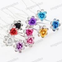 Rhinestone Wedding Party Bridal  Hair Pins Accessories  Barrette Free Shipping 20pcs/lot