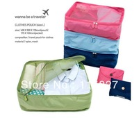Free shipping!3pcs/lot S Size Travel foldable Bag Waterproof Clothes storage Bag outdoor Storage Bag Organizer Bag