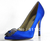 Free/drop shipping, 2013 blue 12cm high heels platform pumps,wedding shoes, Crystal shoes Woman