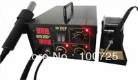 2 in 1 Repair station of 852D+soldering and Desoldering ,with double digital display ,Hot air gun and soldering iron