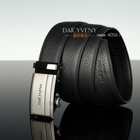 Strap male commercial strap double faced first layer of cowhide litchi belt Men automatic buckle belt genuine leather