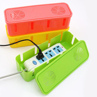 With cooling holes power cord / socket storage box / hub drag strip cable management / Desktop sorting box