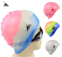 Galeoid swimming cap waterproof swimming cap male female granule solid color silica gel swimming cap