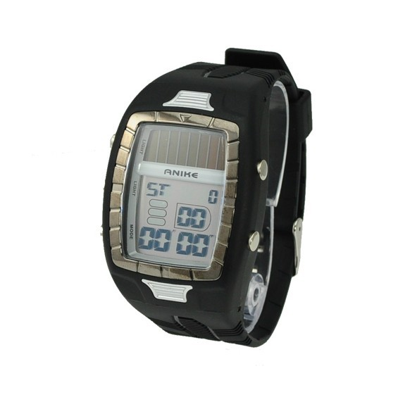 New Hi-power Solar Power Energy 50M Waterproof Sports Watch(China (Mainland))