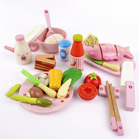 Child kitchen toys chinese style qieqie see wooden toys puzzle free shipping
