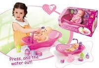008 - 11 water spray baby bathtub bath basin bathtub toy belt doll