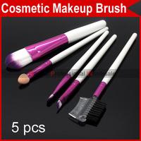 Professional 5 PCS Pro Eyelash Eyebrow Lip Eye Sponge shadow Eyeshadow Blusher Brushes Cosmetic Makeup Make up Brush Set 2300