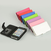 1PCS New PU Leather flip case cover fit for iPhone 4G&4S CM287