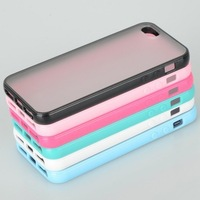 New Colorful Soft Plastic Back Cover Case fit for iPhone 5 5G Free shipping