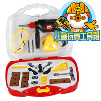 Toy electric child boy portable tool box set