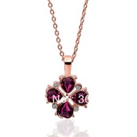 18KGP N360 18K rose GOLD Plated Fashion pretty  Necklace Noble Retro hot Austrian crystal Rhinestone SWA Elements