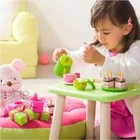 Djeco child toy tea set wood doll