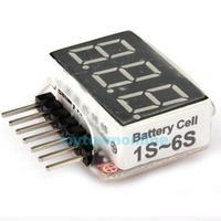 1S-6S LED Low Voltage Buzzer Alarm Lipo Battery Indicator Checker Tester #1JT