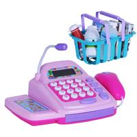 Cash desk toy cash register machine supermarket cash register toy free shipping