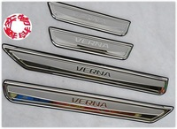 "2010-2011 Hyundai VERNA/Solaris High quality stainless steel Scuff Plate/Door Sill(Logo is ""VERNA""),Free shipping"