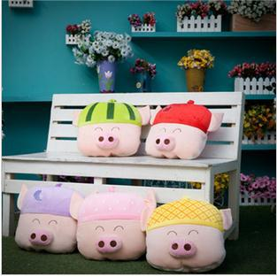 1pcs cartoon lovely 5 kinds friut Mcdull pillow blanket 1.5m*1m cushion creative lunch breaks for baby/children/adult(China (Mainland))
