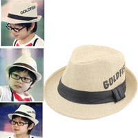 2012 spring summer outdoor sun-shading hat male fashion jazz hat fedoras child